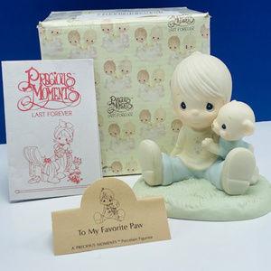 Precious Moments figurine My favorite Paw teddy